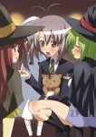 green_hair halloween lisianthus long_hair ootori_naru oretachi_ni_tsubasa_wa_nai paopa_ship red_hair redhead school_uniform shigure_asa short_hair shuffle shuffle! trick_or_treat