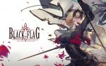 2girls ahoge armor artoria_pendragon_(all) banner black_cape blonde_hair blood blood_on_face blood_splatter breasts cape chains commentary_request crazy_smile fate/grand_order fate_(series) flag gauntlets grey_background headpiece highres holding holding_sword holding_weapon jeanne_d'arc_(alter)_(fate) jeanne_d'arc_(fate)_(all) kuroduki_(pieat) large_breasts looking_at_viewer multiple_girls rain saber_alter short_hair smile standing sword torn_cape underbust weapon