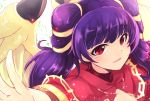 1girl dragon_wings fire_emblem fire_emblem:_seima_no_kouseki highres mamkute multi-tied_hair myrrh nakabayashi_zun parted_lips purple_hair red_eyes simple_background solo twintails white_background wings