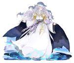 1girl closed_eyes diadora_(fire_emblem) dress fire_emblem fire_emblem:_seisen_no_keifu full_body hair_ornament lavender_hair long_hair long_sleeves nonomori_(anst_nono) parted_lips solo standing white_dress wide_sleeves