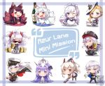6+girls :p akagi_(azur_lane) alcohol anchor_symbol animal_ears antenna_hair apron ayanami_(azur_lane) azur_lane bangs bare_arms bare_shoulders beer belfast_(azur_lane) bird black_dress black_gloves black_hat black_jacket black_legwear black_neckwear black_ribbon black_skirt blonde_hair blue_capelet blue_dress blue_eyes blue_sailor_collar blue_skirt blunt_bangs blush boots bottle braid brown_footwear brown_hair brown_kimono cape capelet cat_girl chair chibi choker closed_mouth collared_shirt commentary commission copyright_name crop_top cup deal_with_it detached_sleeves dress drinking_glass earrings elbow_gloves english english_commentary enterprise_(azur_lane) eyebrows eyebrows_visible_through_hair fox_ears fox_girl fox_tail full_body fur-trimmed_cape fur_trim gainoob garter_straps gloves graf_zeppelin_(azur_lane) grey_dress grey_footwear hair_between_eyes hair_bun hair_ornament hair_ribbon hat heart heart-shaped_pupils holding holding_cup holding_saucer hood_(azur_lane) iron_cross jacket jacket_on_shoulders japanese_clothes jewelry kaga_(azur_lane) kimono kitsune kneehighs leaning_forward light_brown_hair long_hair long_sleeves looking_at_viewer maid maid_headdress midriff military_hat multicolored_hair multiple_girls neckerchief no_shoes off_shoulder one_eye_closed open_mouth pantyhose peaked_cap pencil_skirt pleated_skirt ponytail prinz_eugen_(azur_lane) purple_hair red_cape red_eyes red_ribbon red_skirt ribbon sailor_collar sake sake_bottle saucer school_uniform serafuku shirt short_hair side_bun sidelocks silver_hair simple_background sitting skirt sleeveless sleeveless_dress sleeveless_shirt smile solo standing strapless strapless_dress streaked_hair stuffed_animal stuffed_toy stuffed_unicorn sunglasses suspenders symbol-shaped_pupils table tagme tail teacup teapot thigh-highs thigh_boots tongue tongue_out tray unicorn_(azur_lane) union_jack v-shaped_eyebrows very_long_hair violet_eyes waist_apron washington_(azur_lane) white_apron white_background white_cape white_dress white_gloves white_hat white_kimono white_legwear white_neckwear white_shirt wide_sleeves yellow_eyes yellow_neckwear