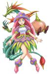1girl :d anger_vein bead_bracelet beads blue_eyes bracelet breasts breath_of_fire breath_of_fire_ii dragon full_body jewelry knees_together_feet_apart long_hair looking_at_viewer mappy_(manhole_opener) medium_breasts multiple_persona mushroom_girl open_mouth pink_hair pink_legwear puffy_short_sleeves puffy_sleeves short_sleeves simple_background smile socks spar teeth white_background