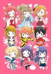 6+girls :3 :d ;) ;q ^_^ ayase_eli bangs baozi black_hair black_legwear blonde_hair blue_dress blue_hair blue_ribbon blue_skirt blush book braid brown_hair bun_cover chibi china_dress chinese_clothes closed_eyes closed_eyes commentary_request double_bun dress eyebrows_visible_through_hair fan floral_print flower food green_ribbon grey_hair hair_flower hair_ornament hair_ribbon hair_rings holding holding_book holding_fan holding_plate hoshizora_rin index_finger_raised kiyose_akame koizumi_hanayo kousaka_honoka long_sleeves love_live! love_live!_school_idol_project medium_hair minami_kotori multiple_girls nishikino_maki nunchaku one_eye_closed open_mouth orange_hair over-kneehighs paintbrush panda pink_background pink_dress plate ponytail print_dress purple_hair red_ribbon redhead ribbon short_hair short_sleeves side_braid side_slit skirt sleeves_past_fingers sleeves_past_wrists smile sonoda_umi standing standing_on_one_leg thigh-highs tongue tongue_out toujou_nozomi track_suit v-shaped_eyebrows weapon wide_sleeves yazawa_nico |_|