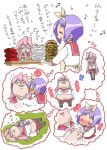 comic fat food hiiragi_tsukasa hishagawariho hishagawariho_(pixiv) inflation lucky_star pantyhose school_uniform serafuku takara_miyuki translated translation_request weight_gain