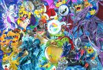 bowser bowser_jr. crown dark_samus dark_skin ganondorf gen_1_pokemon highres iggy_koopa king_dedede king_k._rool larry_koopa lemmy_koopa ludwig_von_koopa meta_knight mewtwo morton_koopa_jr. nintendo porky_minch redhead ridley roy_koopa super_smash_bros. super_smash_bros_ultimate sword wario weapon wendy_o._koopa wings wolf_o'donnell