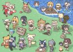 6+girls alpaca_suri_(kemono_friends) character_request chibi common_raccoon_(kemono_friends) emperor_penguin_(kemono_friends) ezo_red_fox_(kemono_friends) fennec_(kemono_friends) grey_wolf_(kemono_friends) hippopotamus_(kemono_friends) jaguar_(kemono_friends) japanese_crested_ibis_(kemono_friends) kaban_(kemono_friends) kemono_friends kotobuki_(tiny_life) lucky_beast_(kemono_friends) margay_(kemono_friends) multiple_girls rockhopper_penguin_(kemono_friends) royal_penguin_(kemono_friends) scarlet_ibis_(kemono_friends) serval_(kemono_friends) shoebill_(kemono_friends) sign silver_fox_(kemono_friends) small-clawed_otter_(kemono_friends) translation_request tsuchinoko_(kemono_friends)