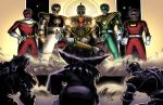 1girl 6+boys arm_guards armor belt black_bodysuit black_dino_thunder_ranger bodysuit boots faceless faceless_male gloves gold_armor gold_trim goldar green_bodysuit green_ranger hand_on_hip helmet holding holding_sword holding_weapon lord_drakkon lord_zedd mighty_morphin_power_rangers multiple_boys power_rangers power_rangers:_dino_thunder power_rangers:_legacy_wars power_rangers_dino_thunder power_rangers_shattered_grid power_rangers_turbo power_rangers_zeo red_bodysuit red_turbo_ranger sam_delatore sitting sword tagme throne tommy_oliver weapon white_bodysuit white_ranger witch_bandora zeo_ranger_v_red
