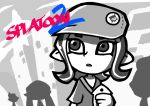 1girl badge button_badge cellphone copyright_name hat holding holding_phone inkling nintendo octarian octoling octorok open_mouth phone setz short_hair short_sleeves smartphone splatoon splatoon_2 splatoon_2:_octo_expansion tentacle_hair the_legend_of_zelda