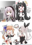 5girls angry cellphone chips cola dinergate_(girls_frontline) english facebook facebook_logo fal_(girls_frontline) fatkewell ferret firing five-seven_(girls_frontline) flat_screen_tv food girls_frontline gun handgun hard_translated multiple_girls ouroboros_(girls_frontline) p7_(girls_frontline) panties phone playstation_controller potato_chips soda_bottle st_ar-15_(girls_frontline) underwear weapon
