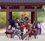 6+boys 6+girls ahoge anger_vein archer armor armored_dress artoria_pendragon_(all) assassin_(fate/stay_night) bangs bare_shoulders berserker black_gloves black_hair black_legwear black_neckwear black_skirt blazer blindfold blonde_hair blue_bodysuit blue_hair blurry bodysuit bow bracer cape caster child cloak coat collar commentary_request covering_ears dark_skin dark_skinned_male depth_of_field detached_sleeves dizi dress drum erhu faceless facial_mark fate/stay_night fate_(series) forehead_mark formal gauntlets glasses gloves hair_bow hair_bun hair_ribbon hat homurahara_academy_uniform hood hooded_cloak instrument jacket japanese_clothes kuzuki_souichirou lancer long_hair long_skirt long_sleeves matou_sakura matou_shinji meme motion_lines multiple_boys multiple_girls music necktie open_mouth pants parody pauldrons pink_footwear pink_hair pipa_(instrument) playing_instrument ponytail purple_hair purple_ribbon red_bow red_coat ribbon rider saber school_uniform shirt short_hair shoulder_armor sitting skirt strapless strapless_dress suit suona tagme temple thigh-highs tohsaka_rin trench_coat trumpet trumpet_boy twintails two_side_up white_hair white_shirt white_skirt wide_sleeves yaoshi_jun zettai_ryouiki