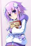 1girl blush d-pad d-pad_hair_ornament doria_(5073726) hair_ornament highres looking_at_viewer neptune_(choujigen_game_neptune) neptune_(series) pout purple_hair short_hair smile solo violet_eyes