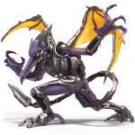 3d absurdres alien claws cyborg dragon highres huge_filesize nintendo no_humans official_art orange_eyes purple_skin ridley super_smash_bros. super_smash_bros_ultimate tongue transparent_background wings