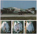 airplane belldandy f-4 f-4_phantom_ii facial_mark forehead_mark japan_air_self-defense_force jet military nose_art photo planes scan skuld urd