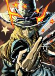 hat kabutoyama kirisame_marisa long_hair star stars touhou wink witch_hat