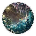air_bubble bubble cave circle creatures_(company) crystal game_freak gen_1_pokemon kurumagi nintendo no_humans plant pokemon pokemon_(creature) solo stalactite underwater vaporeon water