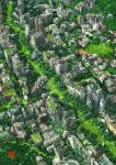artist_name bridge cityscape day from_above green no_humans original outdoors overgrown ruins scenery tokyogenso watermark