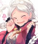 1girl blush closed_eyes elbow_gloves eponine_(fire_emblem_if) fire_emblem fire_emblem_heroes fire_emblem_if gloves highres nakabayashi_zun nintendo smile solo twintails white_hair