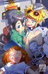 3girls :d ;p artist_name asui_tsuyu baseball_cap bearthemighty black_eyes black_hair black_hat blue_skirt blush_stickers boku_no_hero_academia brown_hair creatures_(company) dated digital_media_player double_bun earphones earphones eyewear_on_head fang game_freak gen_1_pokemon godzilla_(series) green_hoodie gym_uniform hair_between_eyes hair_rings hand_on_another's_knee hasunoue_keroppi hat highres hood hood_down hoodie indoors kero_kero_keroppi knees_up long_hair midriff multiple_girls nintendo nose_bubble one_eye_closed open_mouth pikachu poke_ball_symbol pokemon poster_(object) shadow shirt shoes short_hair sitting skirt sleeping sleepover smile sneakers stuffed_toy sunglasses t-shirt toga_himiko tonari_no_totoro tongue tongue_out totoro untied uraraka_ochako very_long_hair white_shirt yellow_eyes