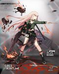 1girl ahoge alternate_costume bangs belt black_footwear black_nails black_skirt black_tank_top boots buckle character_name clenched_teeth collarbone copyright_name cross cross-laced_footwear cross_earrings damaged drone drumsticks earrings fire full_body girls_frontline glaring green_jacket gun hand_up heavy_machine_gun holding holding_drumsticks holding_gun holding_weapon injury jacket jewelry lace-up_boots leather leather_choker leather_wrist_straps light_orange_hair long_hair long_skirt looking_afar machine_gun multiple_earrings multiple_rings nail_polish necklace o-ring off_shoulder official_art open_clothes open_jacket parted_lips pink_hair pointing punk red_eyes ring rocker-chic side_slit sidelocks skirt solo standing tank_top teeth thigh_strap torn_clothes torn_skirt tuye type_80 type_80_(girls_frontline) very_long_hair weapon weapon_case wind wrist_straps