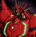 character_request crovirus getter-emperor getter_robo getter_robo_g getter_robo_go highres horn horns mecha new_getter_robo no_humans oldschool science_fiction shin_getter_robo shoulder_armor solo space super_robot tagme yellow_eyes