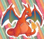 1boy 1girl blue_eyes charizard dragon pokemon