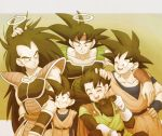 5boys :d ;d ^_^ arm_around_shoulder armor bandanna bardock black_hair brothers closed_eyes closed_eyes dougi dragon_ball eyewear_removed family father_and_son fingernails gloves grandfather_and_grandson great_saiyaman grey_background halo hand_on_another's_arm hand_on_another's_head hand_on_hip happy long_hair looking_at_another looking_down male_focus multiple_boys nervous one_eye_closed open_mouth raditz scar short_hair siblings simple_background smile son_gohan son_gokuu son_goten spiky_hair standing sunglasses sweatdrop teeth uncle_and_nephew upper_body very_long_hair wristband