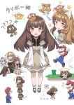 +++ 1boy 3girls ? anger_vein animal_ears bangs blonde_hair bloomers blunt_bangs blush bowsette breasts brown_hair cat_ears cat_goomba cnm directional_arrow dress dust_cloud eyebrows_visible_through_hair facial_hair fang_out fangs flying_sweatdrops goomba goomba_tower grass hand_on_another's_head highres horns jumping kemonomimi_mode long_hair looking_at_viewer luigi's_mansion mario mario_(series) mary_janes medium_breasts motion_lines multiple_girls multiple_views mustache new_super_mario_bros._u_deluxe nintendo nose_blush overalls paw_pose paw_print pipe princess_king_boo puffy_short_sleeves puffy_sleeves shoes short_sleeves source_request spoken_anger_vein super_crown super_mario_3d_world underwear v-shaped_eyebrows violet_eyes waving_arm white_hair