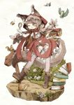 1girl :p ;p animal_ear_fluff animal_ears belt bird blush book_stack bug bush butterfly chipmunk day detective frills full_body green_eyes hand_on_hip heart_cutout imomushi_(pixiv_9001433) insect little_red_riding_hood long_hair magnifying_glass one_eye_closed outdoors panties pink_panties plaid red_hood red_skirt signpost skirt squirrel standing tail thigh-highs tongue tongue_out twintails underwear white_background zettai_ryouiki