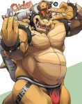 1boy ;d bara bowser bracelet broken_crown cellphone collar cowboy_shot horns jewelry jockstrap male_focus male_underwear mario_(series) masa_(bowser) new_super_mario_bros._u_deluxe nintendo nipples one_eye_closed open_mouth phone self_shot smartphone smile spiked_bracelet spiked_collar spiked_tail spikes super_crown thick_eyebrows underwear v