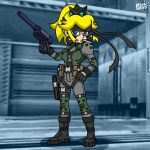 bandana cigarette cosplay crown gun metal_gear_solid nintendo ponytail princess_peach solid_snake super_mario_bros. super_smash_bros.