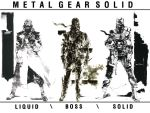 gun highres konami liquid_snake metal_gear metal_gear_solid naked_snake official_art solid_snake weapon