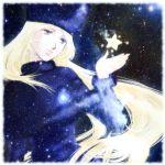 fur_hat galaxy_express_999 ginga_tetsudou_999 hat long_hair lowres maetel smile space star stars yuzuru_saeki