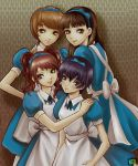 alice_(cosplay) amagi_yukiko hair_ribbon hair_ribbons kujikawa_rise maid multiple_girls persona persona_4 ribbon ribbons satonaka_chie shirogane_naoto y-chan