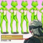 beast-gamer's_sigh blush frogs_(mgs) kerotan konami lowres metal_gear metal_gear_solid metal_gear_solid_4 old_snake parody personification solid_snake