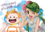 1boy 1girl creatures_(company) game_freak green_eyes green_hair mamane_(pokemon) mao_(pokemon) nintendo orange_hair pokemon pokemon_(anime) pokemon_sm_(anime) takeko0223