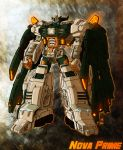 1boy blue_eyes clenched_hand don_figueroa full_body ground_vehicle headgear insignia machine machinery mecha motor_vehicle no_humans nova_prime robot science_fiction solo standing super_robot tagme transformers user_hcmw7852