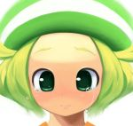 1girl bel_(pokemon) blonde_hair closed_mouth commentary_request creatures_(company) crying game_freak green_eyes green_hat hat medium_hair nintendo pokemon pokemon_(game) pokemon_bw solo tm_(hanamakisan)
