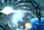 alien battle comet_empire commentary_request energy energy_cannon epic gatlantis k-kat mecha monster moon planet radar radar_dish radio_antenna realistic robot science_fiction size_difference space space_craft spikes spoilers tentacle thrusters turret uchuu_senkan_yamato uchuu_senkan_yamato_2202:_ai_no_senshi-tachi yamato_(uchuu_senkan_yamato) zero_gravity