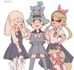 3girls alolan_vulpix creatures_(company) game_freak gen_7_pokemon lillie_(pokemon) mao_(pokemon) multiple_girls nintendo pokemon pokemon_(anime) pokemon_sm_(anime) popplio suiren_(pokemon) tsareena yukikokoro
