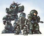 arl-99_helldiver dai-guard full_body gasaraki gun highres ishiyumi kidou_keisatsu_patlabor kokubougar mecha no_humans raiden_(gasaraki) standing weapon