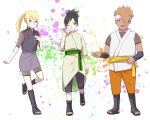 1boy 2girls akimichi_chouchou black_eyes black_hair blonde_hair blue_eyes boruto:_naruto_next_generations boruto:_naruto_the_movie dark_skin genderswap genderswap_(ftm) genderswap_(mtf) komedai looking_at_viewer multiple_girls nara_shikadai naruto_(series) orange_hair ponytail smile yamanaka_inojin yellow_eyes