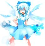 blue_hair bow cirno ichihonkui ippongui short_hair touhou wings