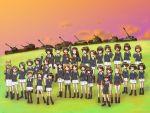 6+girls akiyama_yukari bal_(uqdf) breasts caesar_(girls_und_panzer) caterpillar_tracks char_b1 clouds day emblem evening everyone girls_und_panzer gotou_moyoko grass ground_vehicle highres hoshino_(girls_und_panzer) isobe_noriko isuzu_hana jagdpanzer_38(t) kadotani_anzu kawanishi_shinobu kawashima_momo kondou_taeko konparu_nozomi koyama_yuzu long_hair m3_lee maruyama_saki military military_vehicle momogaa motor_vehicle multiple_girls nekonyaa nishizumi_miho ooarai_(emblem) ooarai_military_uniform oono_aya oryou_(girls_und_panzer) panzerkampfwagen_iv piyotan reizei_mako saemonza sakaguchi_karina sasaki_akebi sawa_azusa short_hair sky smile sono_midoriko sturmgeschutz_iii suzuki_(girls_und_panzer) takebe_saori tank tiger_(p) type_3_chi-nu type_89_i-gou utsugi_yuuki yamagou_ayumi