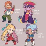 1boy 3girls black_legwear blonde_hair blue_eyes bow breasts capcom character_name china_dress chinese_clothes chun-li chun-li_(cosplay) cleavage coran_(voltron) cosplay dark_skin double_bun dress drill_hair facial_hair facial_mark fingerless_gloves gloves hair_bow hair_ribbon hat kanzuki_karin kanzuki_karin_(cosplay) krolia lei_lei lei_lei_(cosplay) miyata_(lhr) multiple_girls mustache necktie orange_hair pantyhose pink_eyes pointy_ears princess_allura purple_hair purple_skin red_gloves ribbon rival_schools romelle shimazu_hideo shimazu_hideo_(cosplay) street_fighter suspenders twin_drills vampire_(game) violet_eyes voltron:_legendary_defender white_hair