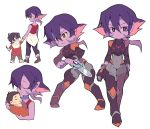 1boy 1girl baby black_hair bodysuit child closed_eyes facial_mark grey_eyes hand_holding keith_(voltron) krolia miyata_(lhr) mother_and_son multicolored_hair pink_hair pointy_ears purple_hair purple_skin smile spoilers two-tone_hair violet_eyes voltron:_legendary_defender yellow_sclera younger