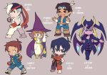 >_< 5boys bandanna black_hair blue_eyes brown_eyes brown_hair capcom character_name chibi clenched_hands cosplay dark_skin dark_skinned_male dougi glasses grey_eyes grin hat hunk_(voltron) ichimonji_batsu ichimonji_batsu_(cosplay) jedah_dohma jedah_dohma_(cosplay) keith_(voltron) ken_masters ken_masters_(cosplay) lance_(voltron) lotor_(voltron) miyata_(lhr) multiple_boys one_eye_closed pidge_gunderson purple_skin ryuu_(street_fighter) ryuu_(street_fighter)_(cosplay) scar smile street_fighter tabasa tabasa_(cosplay) takashi_shirogane thunder_hawk thunder_hawk_(cosplay) vampire_(game) violet_eyes voltron:_legendary_defender white_hair wings witch_hat yellow_sclera
