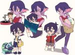 1girl 2boys ^_^ bag bandaid bandaid_on_knee black_hair black_sclera book brown_hair child closed_eyes closed_eyes family frying_pan grey_eyes hood hoodie keith's_father_(voltron) keith_(voltron) kosmo krolia laundry laundry_basket messenger_bag miyata_(lhr) multicolored_hair multiple_boys open_mouth pink_hair purple_hair purple_skin reading shorts shoulder_bag smile smoke spoilers suspender_shorts suspenders tank_top two-tone_hair violet_eyes voltron:_legendary_defender wolf yellow_eyes yellow_sclera younger