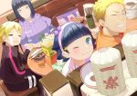 2boys 2girls :3 absurdres ahoge blonde_hair blue_eyes boruto:_naruto_next_generations bottle bowl byakugan chopsticks crying dinner family father_and_daughter father_and_son food hairband highres husband_and_wife hyuuga_hinata iced_tea jewelry lavender_eyes looking_at_viewer looking_back mother_and_daughter mother_and_son multiple_boys multiple_girls naruto_(series) noodles one_eye_closed purple_hair ramen ring shi_(user_ptm0299) short_hair sitting smile spiky_hair streaming_tears table tears uzumaki_boruto uzumaki_himawari uzumaki_naruto wavy_mouth wedding_ring whisker_markings whiskers