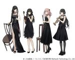 4girls :d alternate_costume anti-rain_(girls_frontline) bangs belt black_dress black_eyes black_footwear black_gloves black_hair black_legwear blonde_hair blue_eyes blush braid breasts brown_eyes brown_hair bullet clarinet closed_mouth collarbone dress duoyuanjun expressionless eyebrows_visible_through_hair eyepatch fingerless_gloves girls_frontline gloves green_hair hair_between_eyes hair_ornament hand_up heterochromia high_heels highres holding holding_instrument instrument jewelry long_hair looking_at_viewer low_twintails m16a1_(girls_frontline) m4a1_(girls_frontline) medium_breasts mole mole_under_eye multicolored_hair multiple_girls necklace official_art one_eye_closed open_mouth open_toe_shoes pantyhose pink_hair red_eyes ro635_(girls_frontline) scar scar_across_eye side_slit sidelocks simple_background small_breasts smile st_ar-15_(girls_frontline) strapless strapless_dress streaked_hair trumpet turquoise_(stone) twintails violin wavy_mouth white_background white_hair yellow_eyes