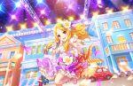 blonde_hair blush dress idolmaster idolmaster_cinderella_girls idolmaster_cinderella_girls_starlight_stage long_hair mochizuki_hijiri red_eyes smile